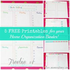 5 FREE printables for your home organization binder – Ask Anna Planner Pages, Printable Planner, Free Printables, Life Planner, Happy Planner, Organizing Paperwork, Binder Organization, Organising, Planning And Organizing