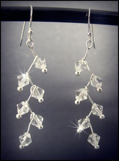 Items similar to Stunning Sparkling Crystal Drop Earrings Handmade In New Zealand on Etsy