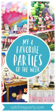 My favorite parties this week include an adorable Peppa Pig birthday party a gorgeous Snow Birthday Highchair, Pig Birthday, First Birthday Cakes, Unicorn Birthday Parties, Unicorn Party, Peppa Pig Balloons, Snow White Birthday, Airplane Party, Pig Party
