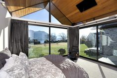 Wanaka House by Mason & Wales Architects New Zealand Architecture, Alpine House, Clerestory Windows, Central Otago, Landscape Materials, Best Insulation, The Gables, Steel Buildings, Industrial Farmhouse