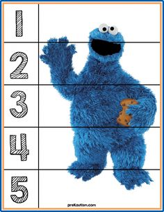 FREE! Sesame Street Number Puzzles