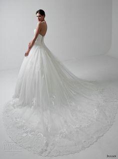 jillian 2017 bridal strapless semi sweetheart neckline heavily embellished bodice romantic princess ball gown a  line weddnig dress long train (mitzi) bv