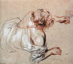 ♥️ fine art, pin-up & retro ♥️ Body Drawing, Life Drawing, Drawing Sketches, Painting & Drawing, Art Drawings, Chalk Drawings, Trois Crayons, Jean Antoine Watteau, Artist Sketchbook