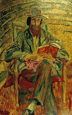mrdirtybear:  'Lytton Strachey' as painted by Duncan Grant circa 1913, from here. Vanessa Bell and Roger Fry also captured Mr Strachey in oils during the same period.