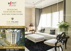 The Palms - Off Palm Beach Road, Nerul 2, 3 & 5 BHK Apartments Revealing Your Dream Home - We will unveil the sample flat soon www.metrogroupindia.com #metrogroupindia #mumbai #realestate #luxury #luxurioushouse #property #homesellers #bestexperience