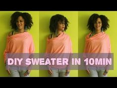DIY Clothes | How To Make A Sweater in 10min - YouTube