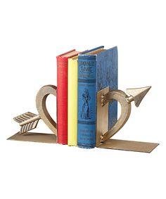 Look what I found on #zulily! Heart & Arrow Cast Iron Bookends by Midwest-CBK #zulilyfinds
