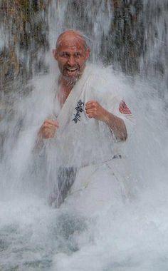 Sensei Koen with special edition dogi for European Championship Shinkyokushin 2012