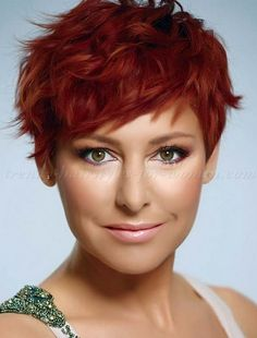 wavy+pixie+haircuts | wavy pixie hairstyle  Love everything about this! Red pixie