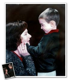 An oil painting of her and her precious little one. Mother's Day gifts just don't get much better than this.