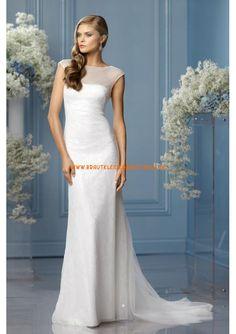 Sexy schlichte Brautmode münchen kaufen aus Chiffon und Satin rückenfrei