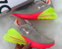 Check out our nike air max 270 selection for the very best in unique or custom, handmade pieces from our sneakers & athletic shoes shops. Cute Nike Shoes, Cute Nikes, Cute Sneakers, Nike Air Shoes, Shoes Sneakers, Baby Sneakers, Women's Shoes, Nike Air Max, Sneakers Fashion Outfits