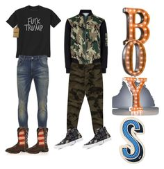 """""""boys"""" by themeltonkids on Polyvore featuring Scotch & Soda, Durango, New Look, Billabong, Converse, Anya Hindmarch, men's fashion and menswear"""