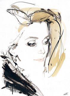 David Downton,Catherine Deneuve