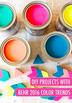 Love the 2016 BEHR Color Trends? Try them out for yourself with these practical DIY crafts and design ideas using these spectacular shades—including Emperor's Silk and Canary Diamond.