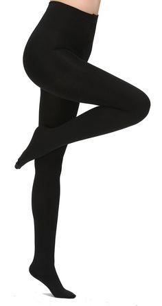 19a693a26f7 Aphro Women s Opaque Warm Tights Fleece Lining Pantyhose Medium - Black   fashion  clothing