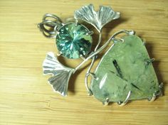 Ginkgo Deva Pendant by CreativeEddy on Etsy, $450.00.  This is gorgeous. Yes, my BD is soon. LOL.