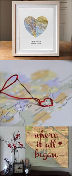 23 Clever DIY Christmas Decoration Ideas By Crafty Panda Map Crafts, Diy And Crafts, Arts And Crafts, Homemade Gifts, Diy Gifts, Art Projects, Projects To Try, Creation Deco, Design Poster