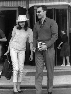 Anna Karina & Jean-Luc Godard. 1960s New Wave Fashion