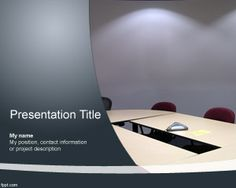 Meeting room template for PowerPoint is a good background for meetings and online conferences