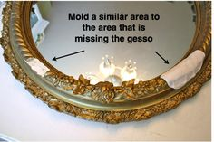 How to Repair Gesso frames ~ The Polka Dot Closet: