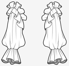Sleeves  |♦F&I♦ Fashion Design Sketchbook, Fashion Design Drawings, Fashion Sketches, Drawing Fashion, Flat Drawings, Flat Sketches, Technical Drawings, Dress Sketches, Patron Vintage