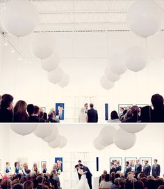 ceremony Balloons at museum of contemporary art Georgia wedding