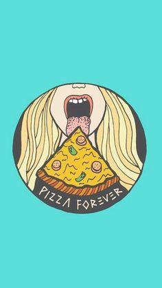 Imagen de pizza and wallpaper