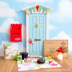 Blue Elf Door birthday bundle with personalised letter from the Elves.