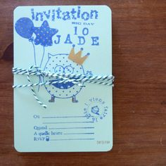 Lot de 10 Invitations [petit monstre] bylfdp personnalisable via [by] lfdp. Click on the image to see more!