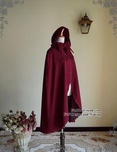 fanplusfriend - Ghost Bride in Burgundy, Elegant Gothic Lolita Retro Hoodie Mantle/Cape*Instant Shipping, $58.76 (http://www.fanplusfriend.com/ghost-bride-in-burgundy-elegant-gothic-lolita-retro-hoodie-mantle-cape-instant-shipping/)