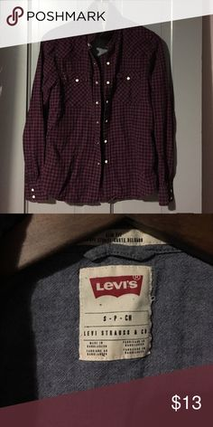 Levis purple button down Levis purple button down in fantastic condition! Perfect for summer nights  Levi's Tops Button Down Shirts
