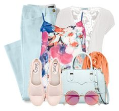 """""""Spring Casual"""" by brendariley-1 ❤ liked on Polyvore featuring Lands' End, maurices, Quiz, Nordstrom, Rebecca Minkoff, Circus by Sam Edelman, Le Specs, casual and springfashion"""
