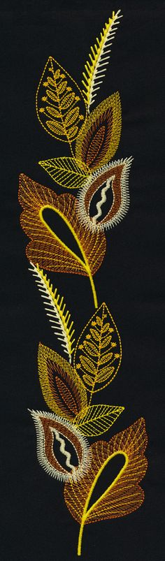 Doodling with thread: Layered Leaves http://www.embroideryonline.com/c-150-meet-the-design-team.asp