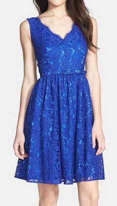 Lace fit  flare dress http://rstyle.me/n/k7b59nyg6