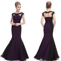 Elegant Purple Ladies Long Lace Fishtail Evening Formal Party Prom Dress 09996 | eBay