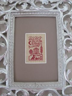 Cross Stitch Love, Stitching, Miniatures, Frame, Sewing, Embroidery, Costura, Picture Frame, Stitches