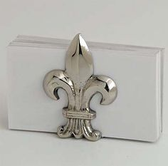 Oooh-lala..... these fleur de lis  business card holder or table decor can also hold place cards for a French theme event.  Sets of 4 $29.95 6 sets or more.
