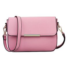 Snap Front Shoulder Bag with Adjustable Straps ($22) ❤ liked on Polyvore featuring bags, handbags, shoulder bags, pink, black purse, flap purse, shoulder handbags, shoulder hand bags and flap handbags