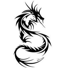 Tatouage dragon tribal                                                                                                                                                                                 Plus
