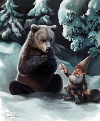 Tomte with Bear