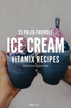 23 Paleo-Friendly Blendtec and Vitamix Ice Cream Recipes Love ice cream? It's even better when it's good for you. These easy and nutritious Vitamix ice cream recipes will please your tastebuds *and* your tummy. Vitamix Ice Cream, Blender Ice Cream, Friendly's Ice Cream, Paleo Ice Cream, Protein Ice Cream, Vitamix Blender, Low Carb Ice Cream, Blender Recipes, Ice Cream Maker