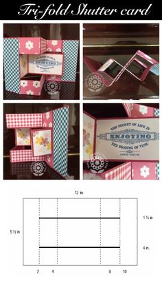This TRIFOLD Card Kit-to-Go is available while supplies last. Finished TRIFOLD Card may also be requested. Trifold Shutter Card Kit or Finished Cards 10 Cards to Make- $15.00 USD 10 Finished Cards- $30.00 USD I hope you like this project....