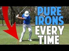 """How to Hit Irons Pure. In golf, """"hitting an iron pure"""" means making a solid connection between your iron and the ball in order to get the most distance out of your shot. Once you're comfortable hitting a driver, the next step is learning. Face Angles, Volleyball Tips, Golf Putting Tips, Club Face, Golf Videos, Golf Instruction, Golf Tips For Beginners, Perfect Golf, Golf Irons"""