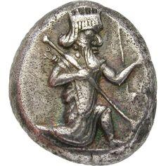 Persian Empire, Achaemenids, Darius II (423-404 BC), Siglos, c. 420 BC, Sardis