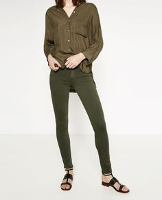 Image 5 of SKINNY MID-RISE TROUSERS from Zara