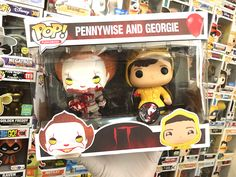 "Custom Pennywise and Georgie Funko Pops by (@funkoboss) on Instagram: ""And Just A Lil 2-Pack! Pennywise With Georgies Arm, And Georgie Without His Arm! Box Graphics By…"""