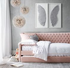 >>>Cheap Sale OFF! >>>Visit>> Tweens are full of new ideas and independence. Find the perfect grown up fashionable adorable style and decor for your perfect tween girl bedroom! Shabby Chic Bedrooms, Bedroom Design, Tween Girl Bedroom, Girls Bedroom, Bedroom Decor, Bedroom Diy, Girl Room, Girl Bedroom Decor, Daybed Room