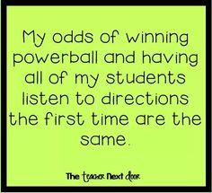 Powerball and teaching same thing