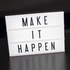 Make It Happen! | Color-Changing Cinema Lightbox (Original size) – My Cinema Lightbox